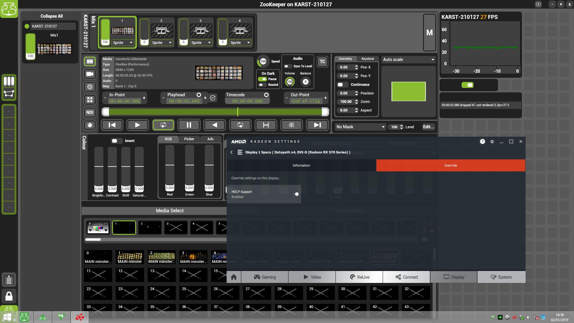 V4 KARST w/ RX570 stuttering running @ 30Hz - Green Hippo Support